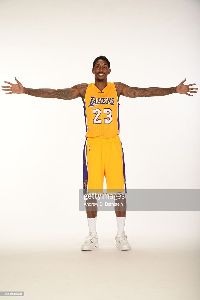 45a399fe7d4 Lou Williams of the Los Angeles Lakers poses for a portrait during ...