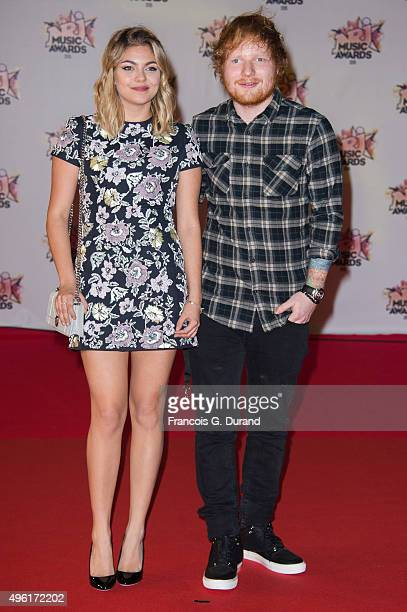 Louane and Ed Sheeran attend the 17th NRJ Music Awards at Palais des Festivals on November 7, 2015 in Cannes, France.