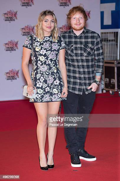 Louane and Ed Sheeran attend the 17th NRJ Music Awards at Palais des Festivals on November 7 2015 in Cannes France