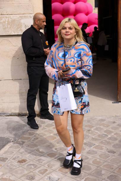 FRA: Victoria/Tomas : Outside Arrivals -  Paris Fashion Week - Womenswear Spring Summer 2022