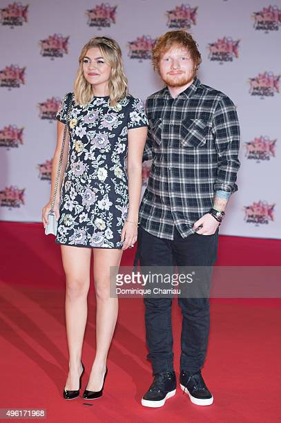 Louane Emera and Ed Sheeran attend the 17th NRJ Music at Palais Des Festivals In Cannes on November 7 2015 in Cannes France