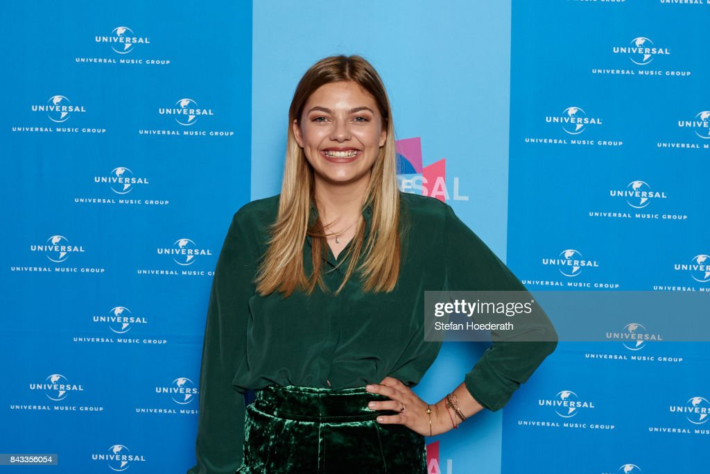 Louane Emera poses for a photo during Universal Inside 2017 organized by Universal Music Group at Mercedes-Benz Arena on September 6, 2017 in Berlin, Germany.
