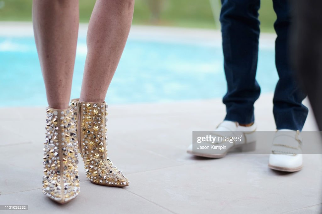 quality design f4689 24549 Louboutin shoes seen during an intimate evening hosted by ...