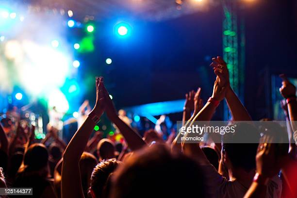 loud party - pop musician stock photos and pictures
