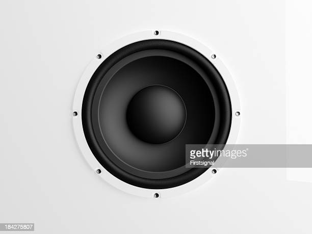 Loudspeaker on white background