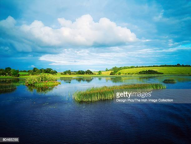 lough ballymagauran, shannon erne waterway, co cavan, ireland - lough erne stock photos and pictures