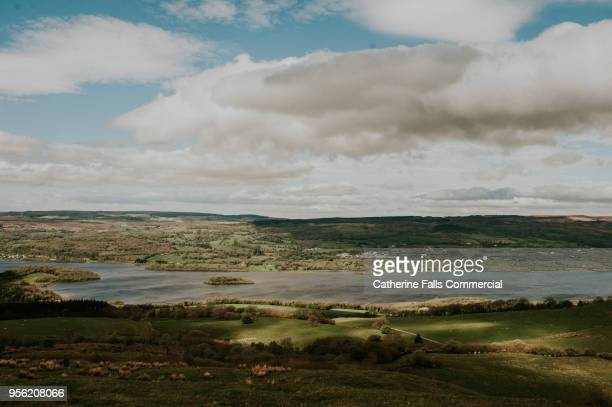 lough erne, county fermanagh, irish landscape - lough erne stock photos and pictures