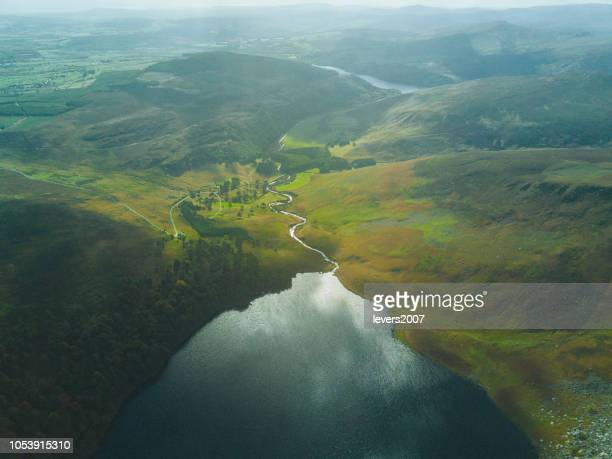 lough tay, co. wicklow, ireland. - estuary stock pictures, royalty-free photos & images