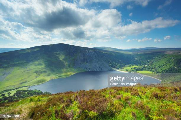 Lough Tay (Guinnes lake) in County Wicklow, Republic of Ireland
