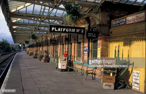 Loughborough Central station on the preserved Great Central Railway. C 2002.