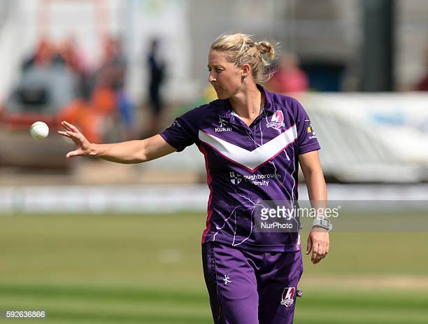 Loughborough Lightning's Sophie Devine during the Women's Cricket Super League Semi_Final match between Western Storm and Loughborough Lightning at...