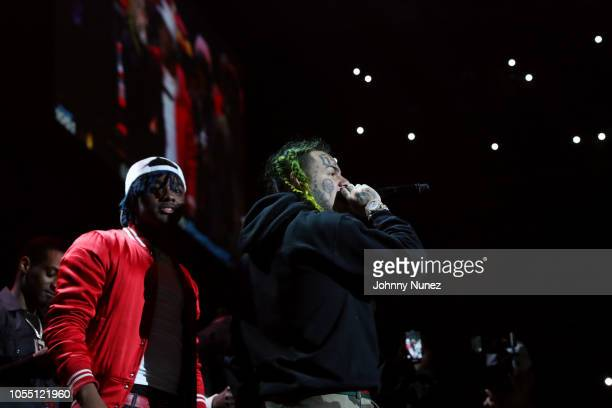 LouGotCash and 6ix9ine perform at 2018 Power1051 Powerhouse NYC at Prudential Center on October 28 2018 in Newark New Jersey