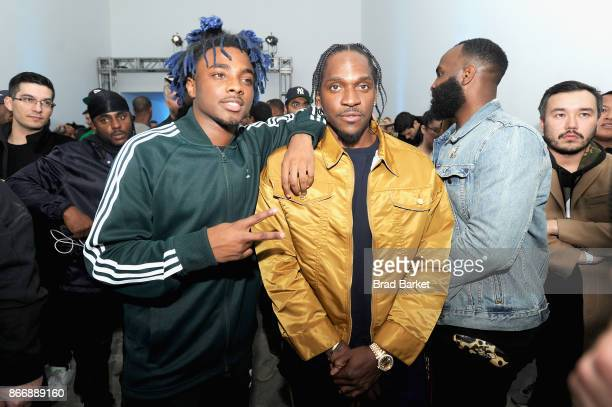 Lougotcash and Pusha T attend the Launch Of Pusha T's Latest Collaboration With adidas Originals KING PUSH X ADIDAS ORIGINALS EQT 'BODEGA BABIES' on...