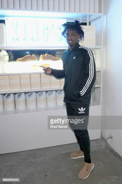 Lougotcash attends the Launch Of Pusha T's Latest Collaboration With adidas Originals KING PUSH X ADIDAS ORIGINALS EQT 'BODEGA BABIES' on October 26...