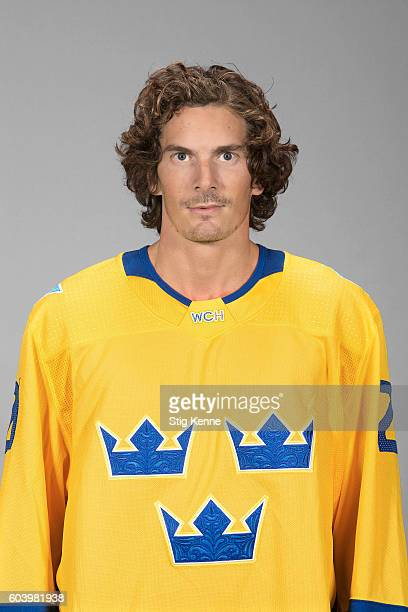 Loui Eriksson of Team Sweden poses for his official World Cup of Hockey head shot at the Scandinavium on September 6 2016 in Gothenburg Sweden