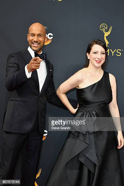 Louie Actor KeeganMichael Key and producer Elisa Pugliese attends the 68th Annual Primetime Emmy Awards at Microsoft Theater on September 18 2016 in...