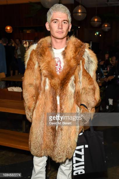 Louie Banks attends the Izzue x Ponystep London Fashion Week party at Mare Street Market on September 16 2018 in London England