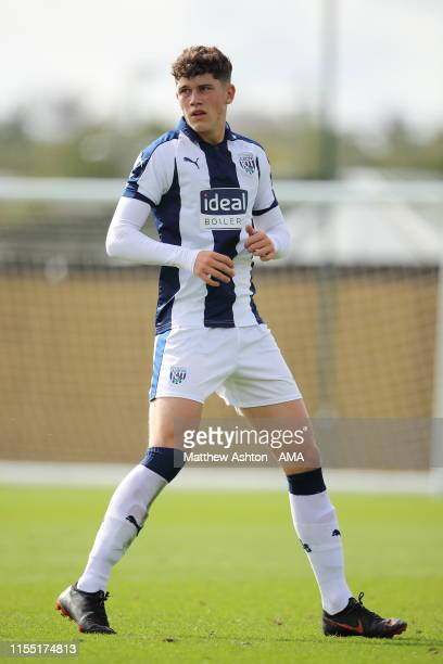 Louie Barry of West Bromwich Albion who has signed for FC Barcelona whilst playing in the PL2 U18 match Wolverhampton Wanderers v West Bromwich...