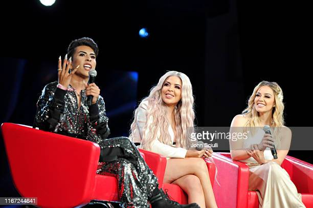 Louie Castro Esmeralda Bebellaceo and Rosie Rivera speak onstage at Beautycon Festival Los Angeles 2019 at Los Angeles Convention Center on August 10...