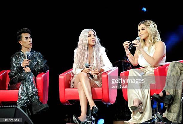 Louie Castro Esmeralda Hernandez and Rosie Rivera speak onstage during Beautycon Festival Los Angeles 2019 at Los Angeles Convention Center on August...