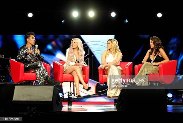 Louie Castro Esmeralda Hernandez Rosie Rivera and Patty Rodriguez speak onstage during Beautycon Festival Los Angeles 2019 at Los Angeles Convention...