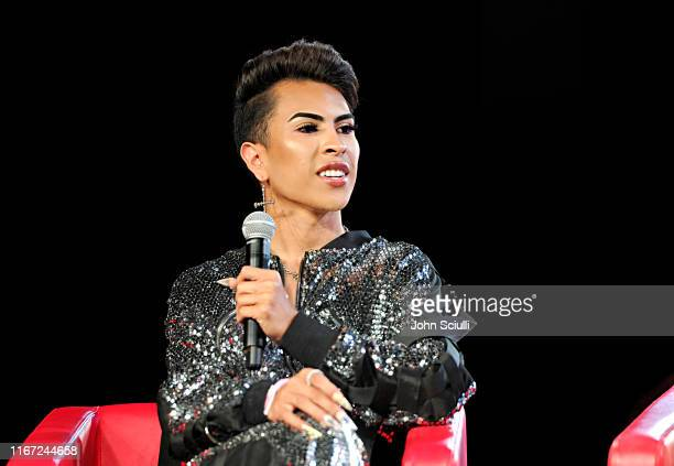 Louie Castro speaks onstage at Beautycon Festival Los Angeles 2019 at Los Angeles Convention Center on August 10 2019 in Los Angeles California
