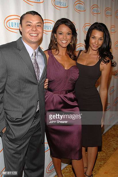 Louie La Rue Eva La Rue and Lara La Rue attend the 9th annual Lupus LA Orange Ball at the Beverly Wilshire Four Seasons Hotel on May 28 2009 in...