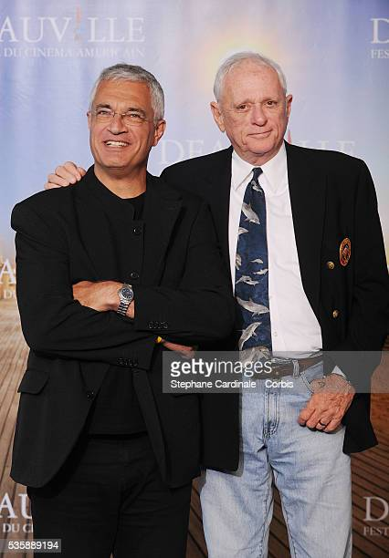 Louie Psihoyos and Ric O'Barry attend The Cove photo call at the 35th American Film Festival in Deauville