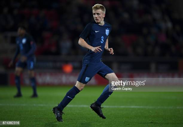 Louie Sibley of England during the International Match between England U17 and Germany U17 at The New York Stadium on November 14 2017 in Rotherham...