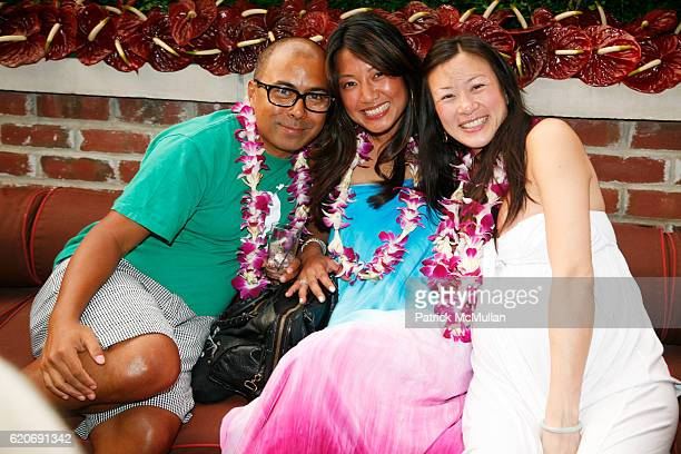 Louie Sibley Phuong Nguyen and Alisha Liu attend JED ROOT Hawaiian Barbeque in Early Celebration of 20 Years at The Bowery Hotel on July 17 2008 in...