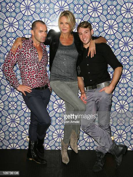 Louie Spence, Charlotte Dawson and Matthew Mitcham pose during the Kit & Kaboodle Mardi Gras VIP Party on March 3, 2011 in Sydney, Australia.