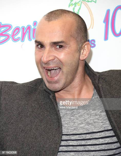 Louie Spence during a photocall for ITV show 'Benidorm ' which is celebrating it's 10th anniversary at The Curzon Mayfair on January 29 2018 in...