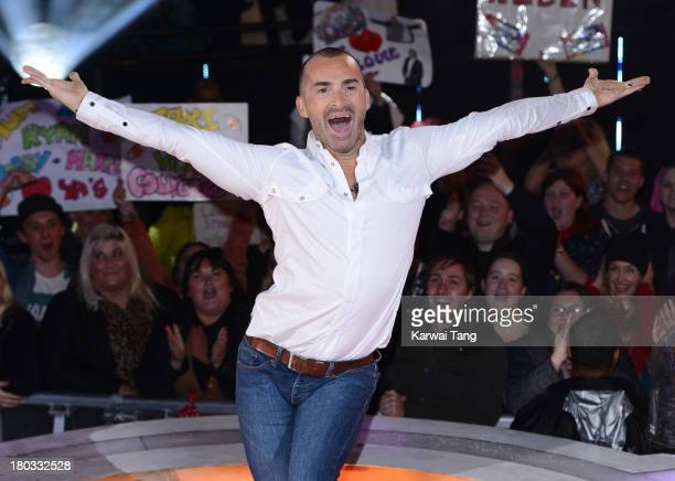 Louie Spence is evicted from the Celebrity Big Brother House at Elstree Studios on September 11, 2013 in Borehamwood, England.