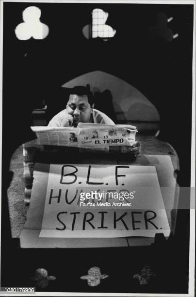 Louis Al Morio BLF Hunger striker inside St Vincents church at Redfern May 08 1986