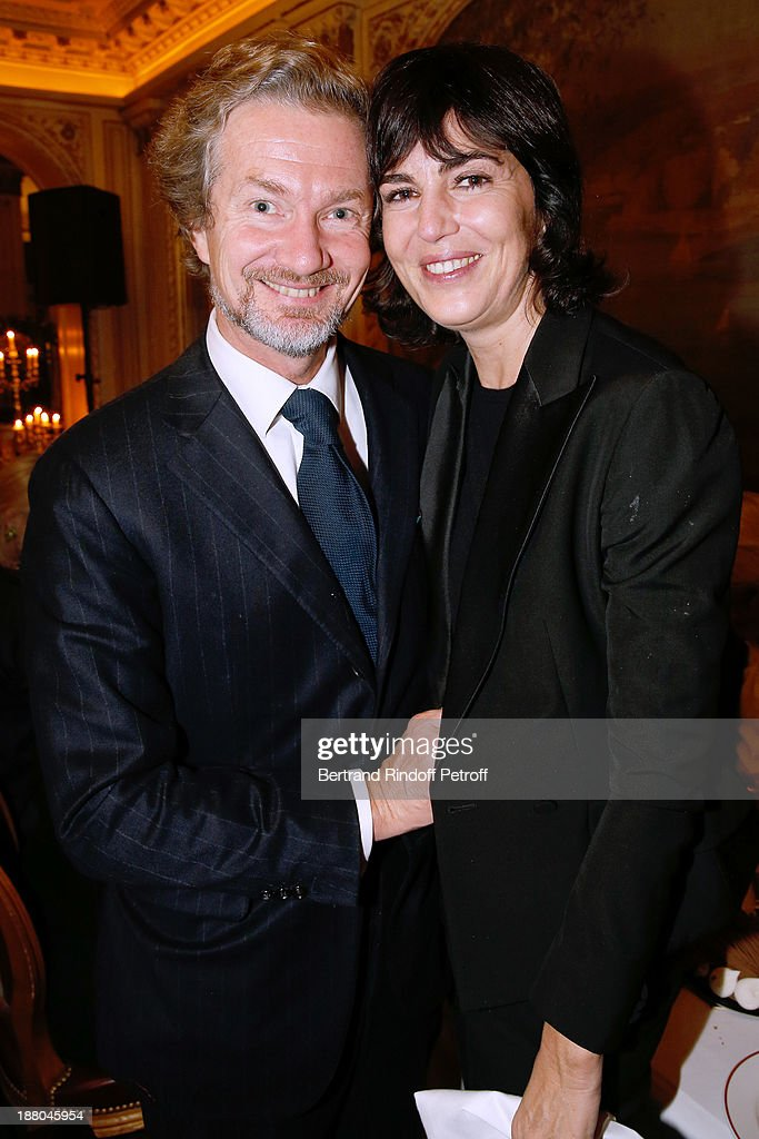 Louis Albert de Broglie and Emmanuelle de Poix attend the 50th Anniversary party of Stephane Bern, called 'Half a century, it's party', celebrated at Angelina on November 14, 2013 in Paris, France.