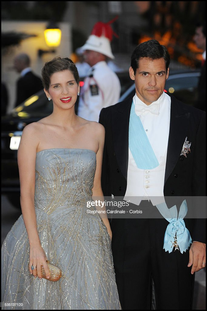 Louis Alphonse De Bourbon And His Wife Maria Margarita Attend The Dinner At Opera Terraces After