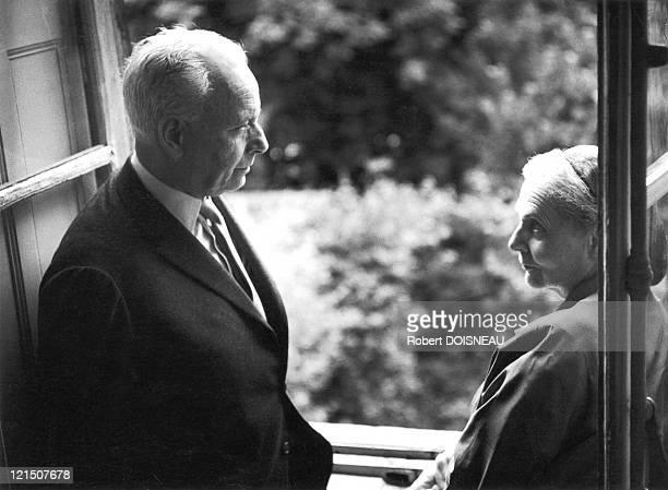 Louis Aragon And Elsa Triolet At Home Rue De Varennes In July 1963