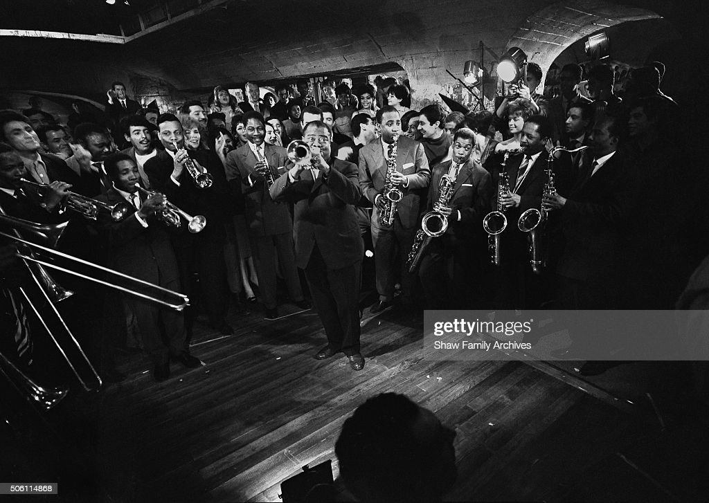 """Louis Armstrong From The Making Of """"Paris Blues"""" : News Photo"""