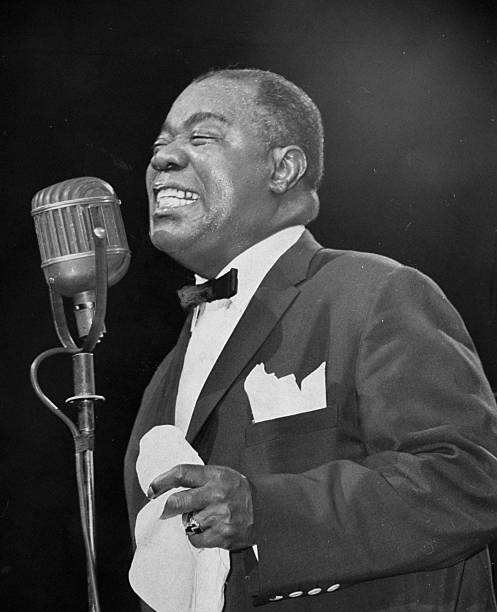 Louis Armstrong at the Daily News Jazz Festival.