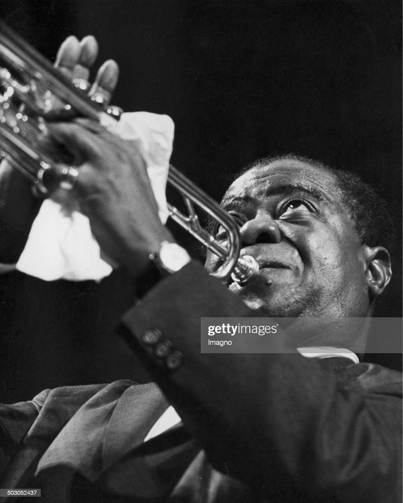 Louis Armstrong In Concert. Wiener Stadthalle. Vienna 15. 22Nd February 1959. Photograph By Franz Hubmann. : News Photo
