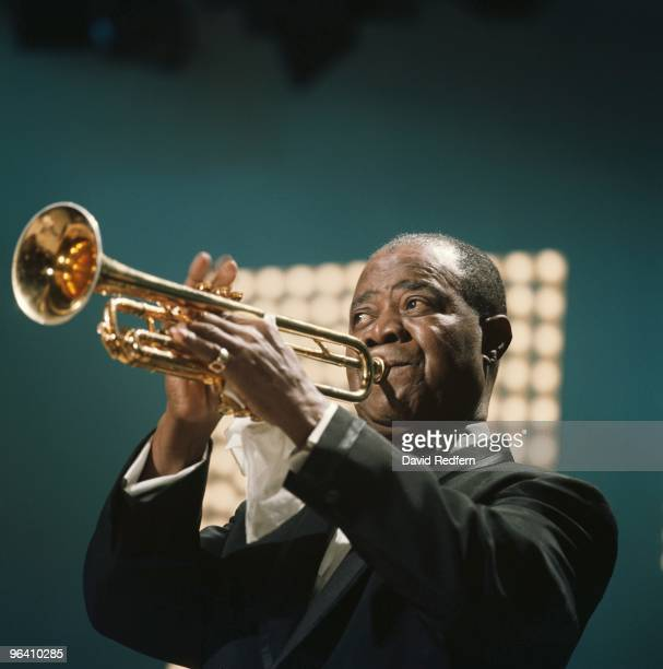 Louis Armstrong performs on the Kraft Music Hall TV show at NBC Studios in Brooklyn in June 1967 in New York Image is part of David Redfern Premium...