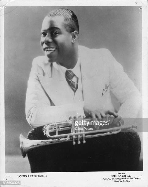 Louis Armstrong portrait USA 1935