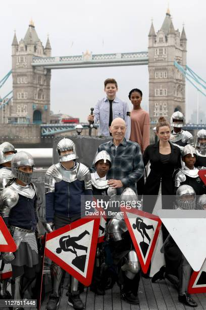 Louis Ashbourne Serkis Rhianna Dorris Sir Patrick Stewart and Rebecca Ferguson are joined by children from Snowsfields Primary School and Tower...