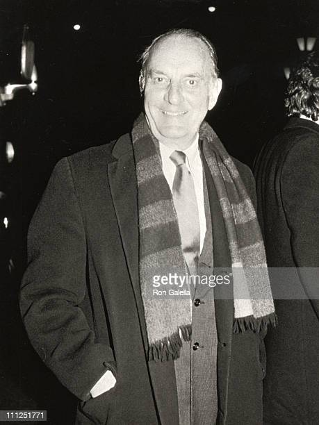 Louis Auchincloss during Benefit Performance of Phantom of the Opera at Broadway in New York City New York United States
