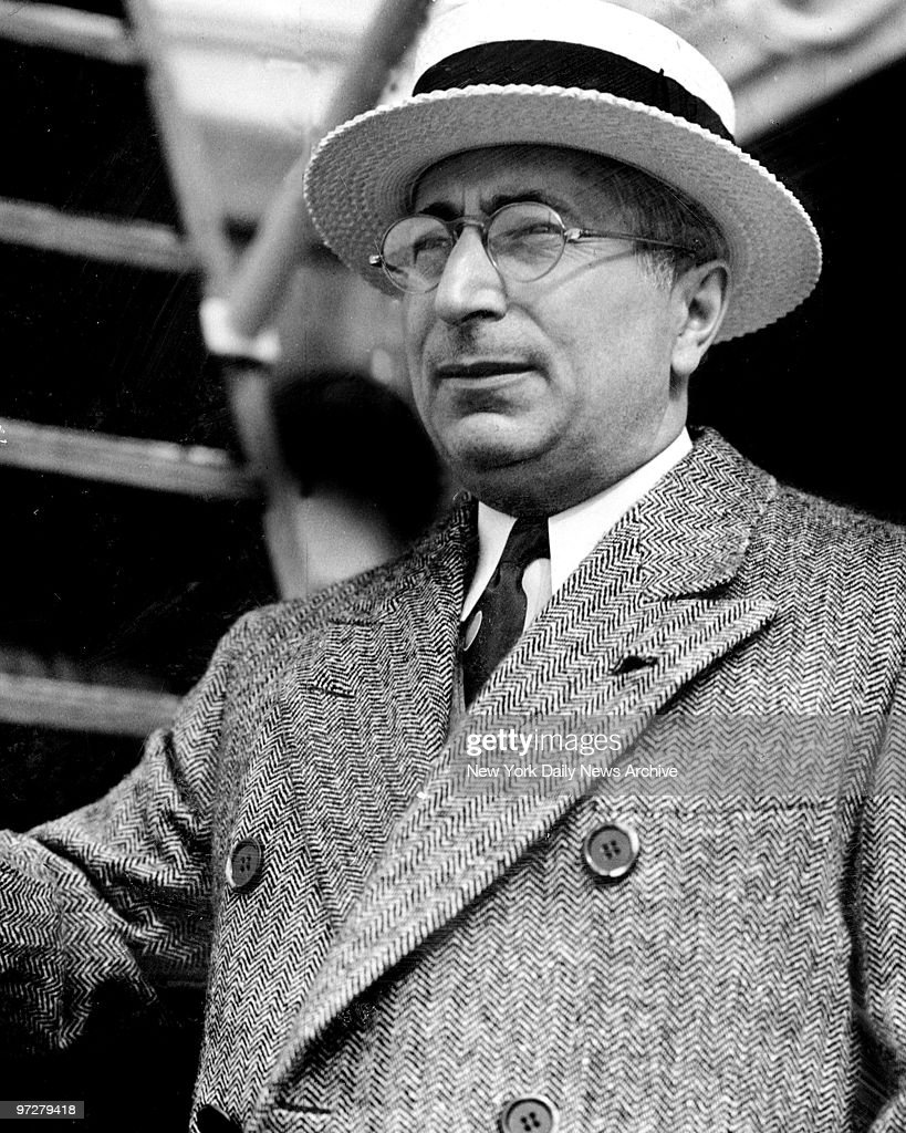 Louis B. Mayer, movie producer, aboard the S.S. Malolo as he : News Photo