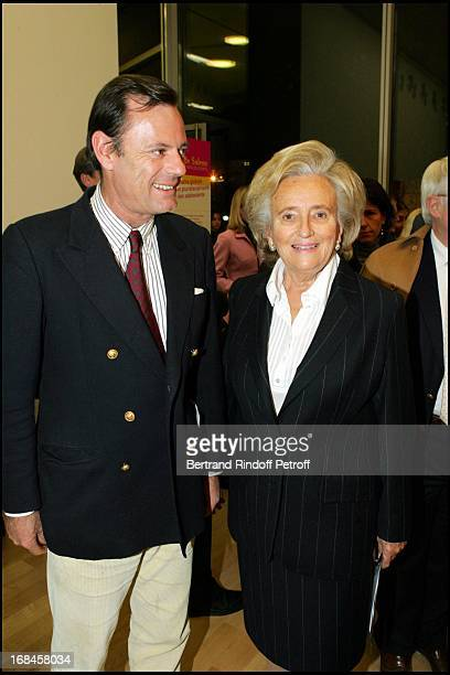 "Louis Benech and Bernadette Chirac at Inauguration Of ""Maison De Solenn"", A House For Teenagers, Sponsored By Bernadette Chirac At Cochin Hospital In..."