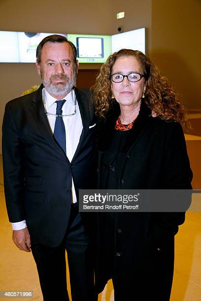 Louis Benech and Colombe Pringle attend the 'Fondation Claude Pompidou' : Charity Party at Fondation Louis Vuitton on December 16, 2014 in Paris,...
