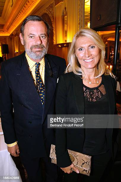 Louis Benech and Marie Sara Lambert attend the 50th Anniversary party of Stephane Bern called Half a century it's party celebrated at Angelina on...