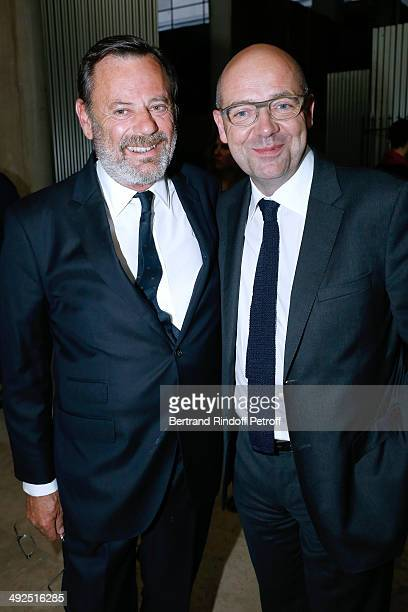 Louis Benech and President of Museum of Modern Art of Paris Fabrice Hergott attend the Friend's of Palais De Tokyo's Dinner. Held at Palais De Tokyo...