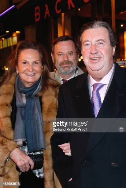Louis Benech standing between Patrick Mauboussin and his wife Sylviane Mauboussin attend 'Un Temps De Chien' - Theater Gala Premiere to Benefit ARSEP...